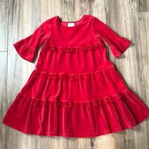 Hanna Andersson red velvet dress 110/ US 5